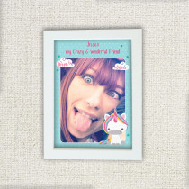 Dream Believe Unicorn With Photo Upload - Personalised Photo Frame