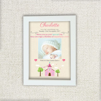 Pink Church With Photo Upload - Personalised Photo Frame