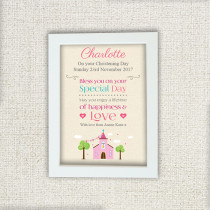 Pink Church - Personalised Photo Frame