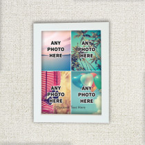 Easy Four Photos With Optional Text - Photo Frame