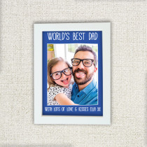 Fathers Day Personalised Blue World's Best Photo Frame