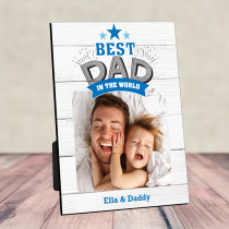 Fathers Day Best Dad In The World Photo Frame