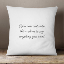 Personalised Cushion With Editable Text