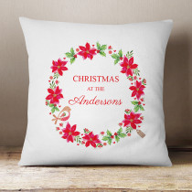 Personalised Christmas Wreath - Cushion
