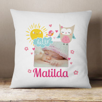 Personalised Cute Owl Photo Cushion