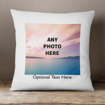 Personalised One Photo Cushion With Optional Text