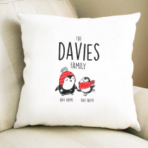 Christmas Penguin One Parent & Child - Cushion