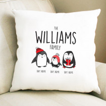 Christmas Penguin One Child - Cushion