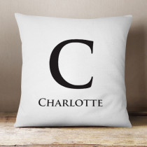 Personalised Monochrome Initial Cushion
