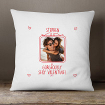 Personalised Gorgeously Sexy Valentine Photo Cushion