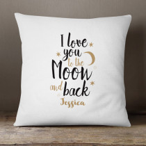 Personalised I Love You To The Moon And Back Cushion