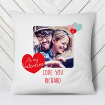Personalised Be My Valentine Photo Cushion