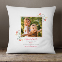 Personalised Wife And Mother Photo Cushion