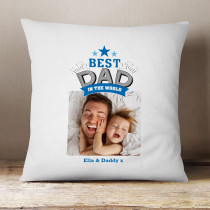 Fathers Day Personalised Best Dad In The World Photo Cushion