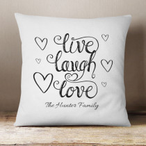 Personalised Live Laugh Love Cushion