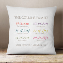 Personalised Special Dates Cushion
