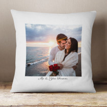 Personalised Love Photo Cushion With Text