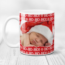 Personalised Ho Ho Ho Christmas with Photo Upload - Mug