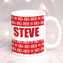 Personalised Ho Ho Ho Christmas with Big Name - Mug