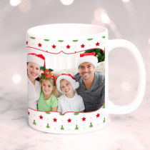 Personalised Star on the Christmas Tree with Photo Upload - Mug