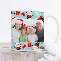 Personalised Tumbling Santa with Photo Upload - Mug