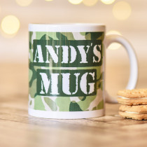 Personalised Army Camouflage Mug