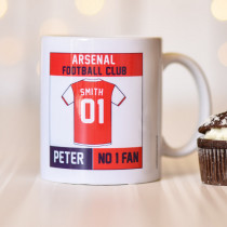 Personalised Arsenal Football Club Mug