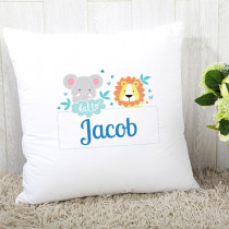 Personalised Blue Jungle Cushion