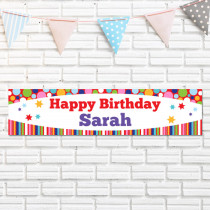 Personalised Bright Birthday Banner