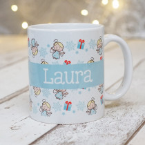 Christmas Fairies with Big Name - Mug