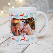 Christmas Reindeers with Photo Upload - Mug