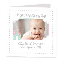 Cute Church with Photo Upload - Luxury Greeting Card