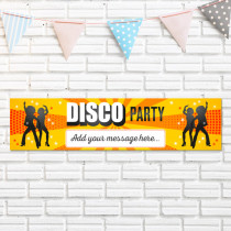 Disco Party - Personalised Banner