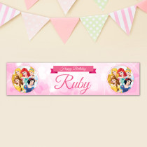 Official Personalised Disney Princess Birthday Banner