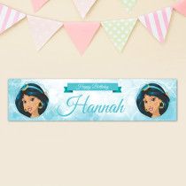 Official Personalised Disney Aladdin Princess Jasmine Birthay Banner