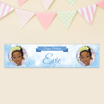 Official Personalised Disney Princess and the Frog Tiana Birthay Banner