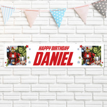 Official Personalised Marvel Avengers Banner