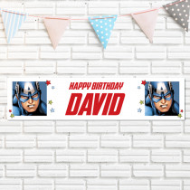 Official Personalised Marvel Captain America Banner