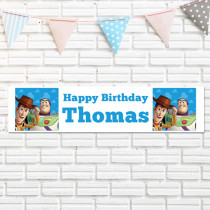 Official Personalised Disney Pixar Toy Story Buzz And Woody Birthday Banner