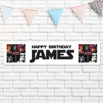 Official Personalised Star Wars Birthday Banner