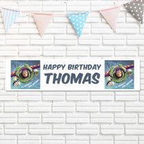 Official Personalised Disney Pixar Toy Story Buzz Lightyear Birthday Banner