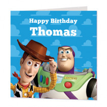 Disney Pixar Toy Story Buzz And Woody - Luxury Greeting Card