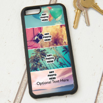 Easy Photo Upload - 4 Photos and Optional Text - iPhone 6 Case