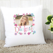 Personalised Fabrique Daughter Photo Cushion