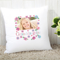 Personalised Fabrique Granddaughter Photo Cushion