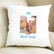 Father's Day Checked Design - Personalised Cushion