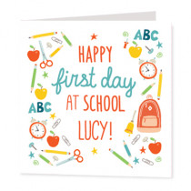 First Day At School Non Photo - Luxury Greeting Card