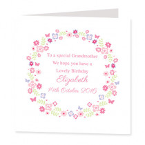 Floral frame- Luxury Greeting Card