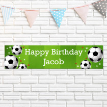 Personalised Football Banner