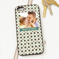 Green And Cream Checked Pattern - iPhone 5 Case